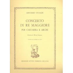 Vivaldi, Antonio: Concerto in re maggiore : per chitarra e archi R 93, P 209, F XII:15 Partitura 1 Parte