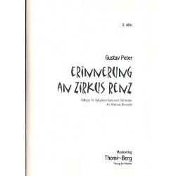 Peter, Gustav: Erinnerung an Zirkus Renz : für Xylophon und Orchester (Salonorchester) Partitur, Klavier-Direktion und Stimmen