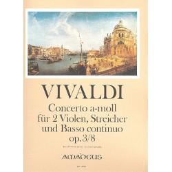 Vivaldi, Antonio: Concerto a-Moll op.3,8 für 2 Violen, Streicher und Bc : für 2 Violen und Klavier