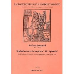 Bernardi, Stefano: Sinfonia concertata quinta all epistola : für 2 Violinen (2 Hörner), 4 Viole da gamba (4 Posaunen) und Bc