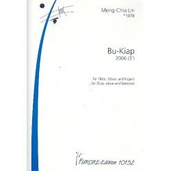 Lin, Meng-Chia: Bu-Kiap : für Piccoloflöte, Oboe und Fagott Partitur und Stimmen
