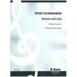Tschaikowsky, Peter Iljitsch: Fantasie-Ouvertüre zu Romeo und Julia : für Klavier zu 4 Händen Spielpartitur, Reprint