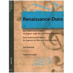 Renaissance-Duos aus Holland und England : für 2 Blockflöten (ST) Spielpartitur