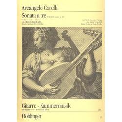 Corelli, Arcangelo: Sonata ├á tre C-Dur op.4,3 : f├╝r 2 Altblockfl├Âten und Gitarre Spielpartitur