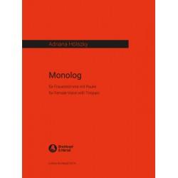 H├Âlszky, Adriana: Monolog : f├╝r Frauenstimme und Pauke nach einem Text der Komponistin aus Zeitungsausschnitten
