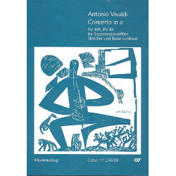 Vivaldi, Antonio: Concerto a-Moll RV445, PV83 für Sopraninoblockflöte, Streicher und Bc, Klavierauszug