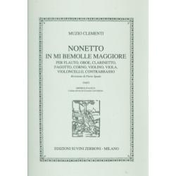 Clementi, Muzio: Nonetto mi bemol maggiore : per quintetto a fiati, trio d'archi e contrabbasso, 9 parte