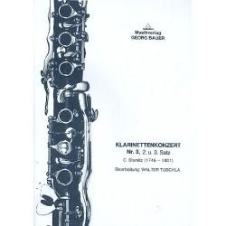 Stamitz, Karl: Konzert Nr.3, 2.+3. Satz für Klarinette und Blasorchester