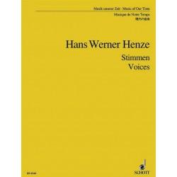 Henze, Hans Werner: VOICES : FUER SOPRAN, TENOR UND KAMMERORCHESTER STUDIENPARTITUR