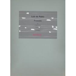 De Pablo, Luis: PROSODIA : FUER FLOETE, KLARI- NETTE, PICCOLO, XYLO., VIBRA. UND MARACAS, PARTITUR