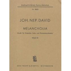 David, Johann Nepomuk: Melancholia, op.53 Partitur