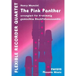 Mancini, Henry: The Pink Panther : für 4 Blockflöten (SSTT) Partitur und Stimmen