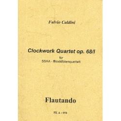 Caldini, Fulvio: Clockwork- Quartet op.68,1 : für 4 Blockflöten (SSAA) Partitur und Stimmen