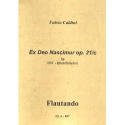 Caldini, Fulvio: EX DEO NASCIMUR OP.21C : FUER 3 BLOCKFLOETEN (SST) SPIELPARTITUR