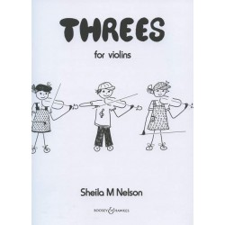 Nelson, Sheila M.: Threes : for 3 violins score