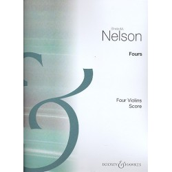Nelson, Sheila M.: Fours for 4 violins score
