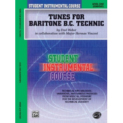 Weber, Fred: Tunes for Baritone (B.C.) Technic Level 1 (elementary)