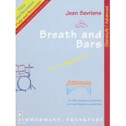 Paganini, Nicol├▓: Breath and bars : f├╝r Fl├Âte, Vibraphon und Marimba Partitur und Stimmen