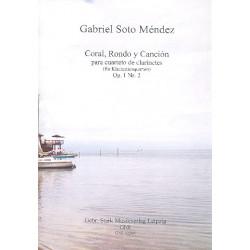 Soto Mendez, Gabriel: Coral, rondo y canción op.1,2 : für3 Klarinetten und Bassklarinette Partitur und Stimmen