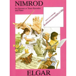 Elgar, Edward: Nimrod : for 2 recorders (ST) and piano