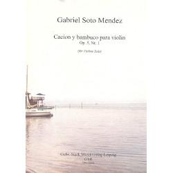 Soto Mendez, Gabriel: Canción y bambuco op.5,1 für Violine
