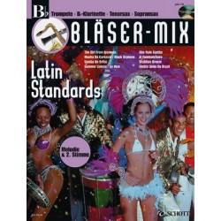 Bläser-Mix (+CD) : Latin Standards für B-Instrumente (Melodie und 2. Stimme)