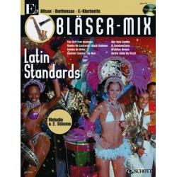 Bläser-Mix (+CD) : Latin Standards für Es-Instrumente (Melodie und 2. Stimme)