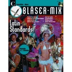 Bläser-Mix (+CD) : Latin Standards für C-Instrumente (Meloie und 2. Stimme)