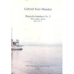 Soto Mendez, Gabriel: Rapsodia bambuco Nr.3 op.6,2 für Horn und Klavier