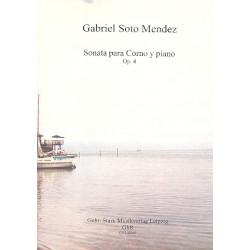 Soto Mendez, Gabriel: Sonate op.4 für Horn und Klavier