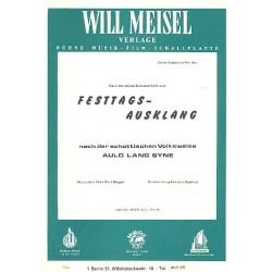 Festtagsausklang nach Auld Lang Syne: für Klavier mit Text