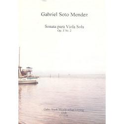 Soto Mendez, Gabriel: Sonate op.5,2 : für Viola