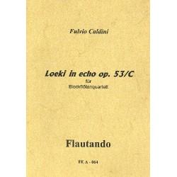 Caldini, Fulvio: Loeki in echo op.53c für 4 Blockflöten (SSSA) Partitur und Stimmen