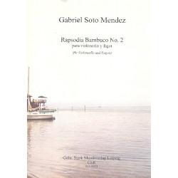 Soto Mendez, Gabriel: Rapsodia bambuco Nr.2 op.3,1 : für Violoncello und Fagott Partitur und Stimmen