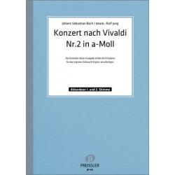 Bach, Johann Sebastian: Konzert Nr.2 nach Vivaldi a-Moll : f├╝r 2 Akkordeons Partitur