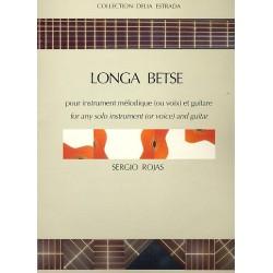 Rojas, Sergio: Longa betse : pour voix (instrument m├®lodique) et guitare partition