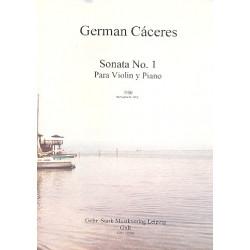 Cáceres, German: Sonate Nr.1 für Violine und Klavier