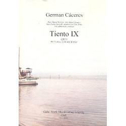 Cáceres, German: Tiento Nr.9 für Violine, Violoncello und Klavier Stimmen