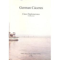 Cáceres, German: 5 Deploraciones : für Flöte