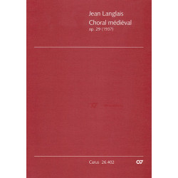 Langlais, Jean: Choral medieval op.29 : für 3 Trompeten, 3 Posaunen und Orgel Partitur (Orgelstimme)