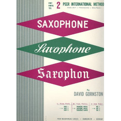 Gornston, David: Method for Saxophone vol.2 (dt/en/fr)