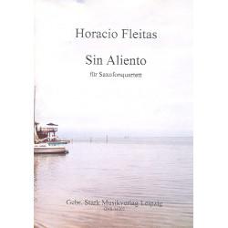 Fleitas, Horacio: Sin Aliento für 4 Saxophone (SATBar) Partitur und Stimmen