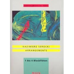 Serocki, Kazimierz: Arrangements für 1-4 Sopranblockflöten Spielpartitur