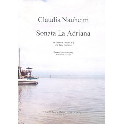 Nauheim, Claudia: Sonata La Adriana : f├╝r Sopranblockflkte (Altfl├Âte in G) und Bc Partitur und Stimmen (Bc ausgesetzt)