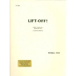 Peck, Russell: Lift-off : for 3 percussionists playing 9 drums (percussion ensemble) score and parts