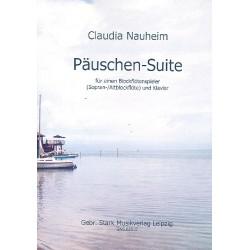 Nauheim, Claudia: Päuschen-Suite : für einen Blockflötenspieler (S/A) und Klavier