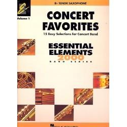 Concert Favorites vol.1 : for concert band tenor saxophone