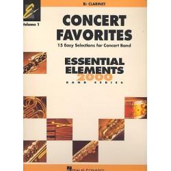Concert Favorites vol.1 : for concert band clarinet