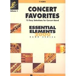 Concert Favorites vol.1 : for concert band horn in F