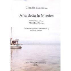 Nauheim, Claudia: Arietta detta la Monica für Sopranblockflöte (Altflöte in G) und Bc Partitur und Stimmen (Bc ausgesetzt)